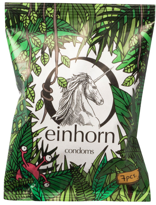 Sandra Bayer Illustration einhorn condoms Fummeldschungel
