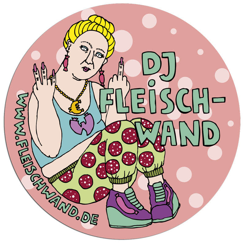 Sandra Bayer Illustration DJ Fleischwand Sticker