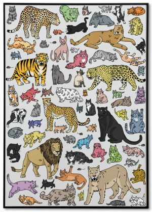 Poster Katzen Sandra Bayer Illustration Kinderzimmer